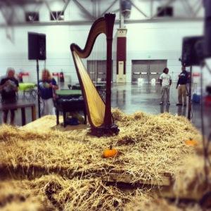 harp on hay